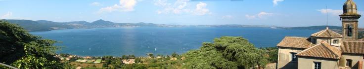 Panorama of Lake Bracciano from Castello Odescalchi